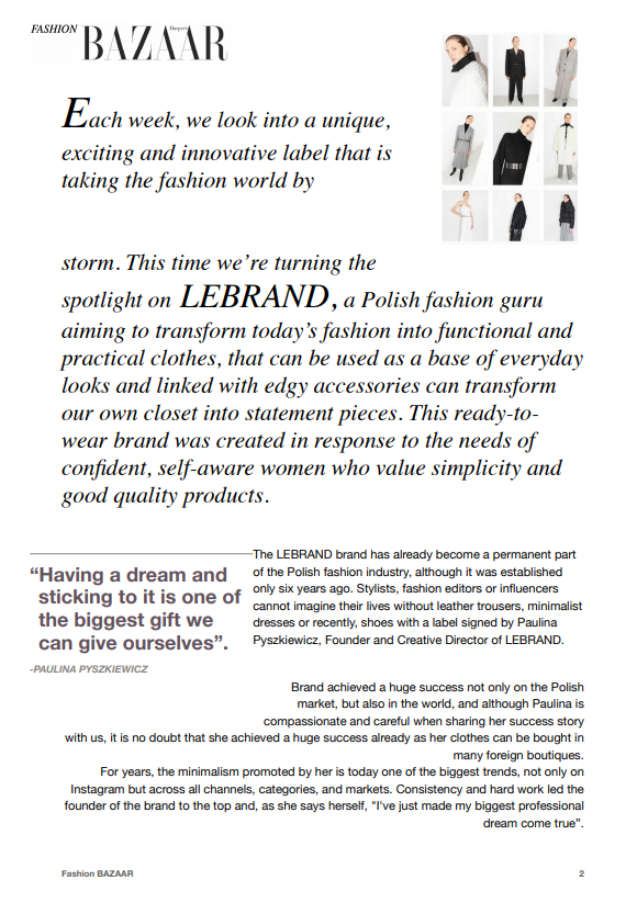 Fashion Article LeBRAND