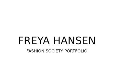 Freya Portfolio